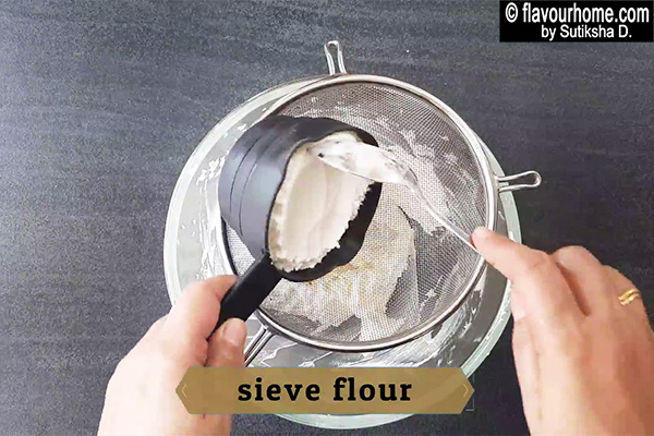 sieve flour for cookies recipe